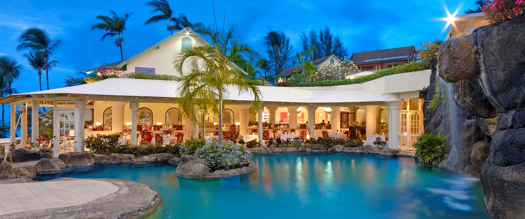 Reflections Restaurant with Refreshing Open Air Setting at Crystal Cove, Barbados