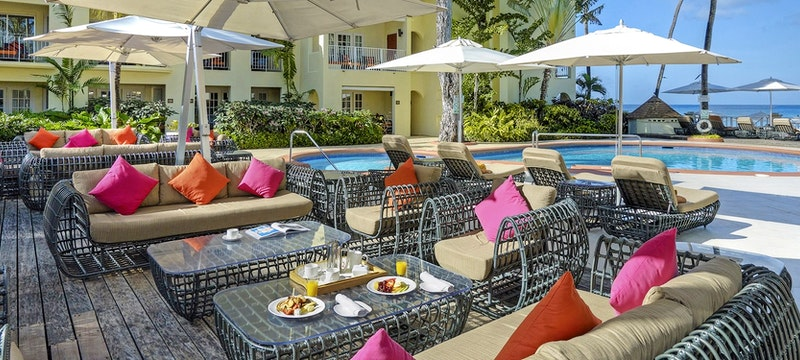Indulge in casual dining poolside at Tamarind by Elegant Hotels, Barbados