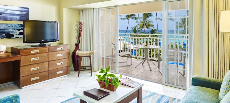 Ocean view suite at Turtle Beach Resort, Barbados
