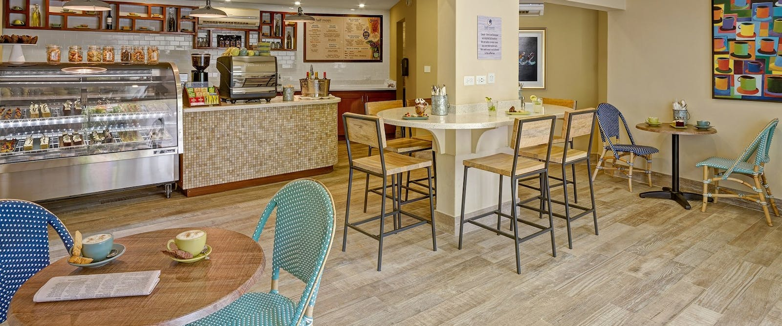 Half Moon Coffee Shop and Deli at Turtle Beach Resort by Elegant Hotels, Barbados
