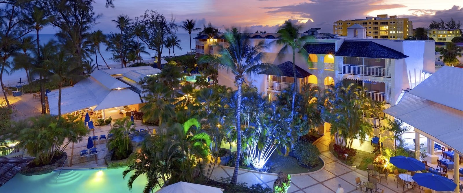 Sunset at Turtle Beach Resort by Elegant Hotels, Barbados
