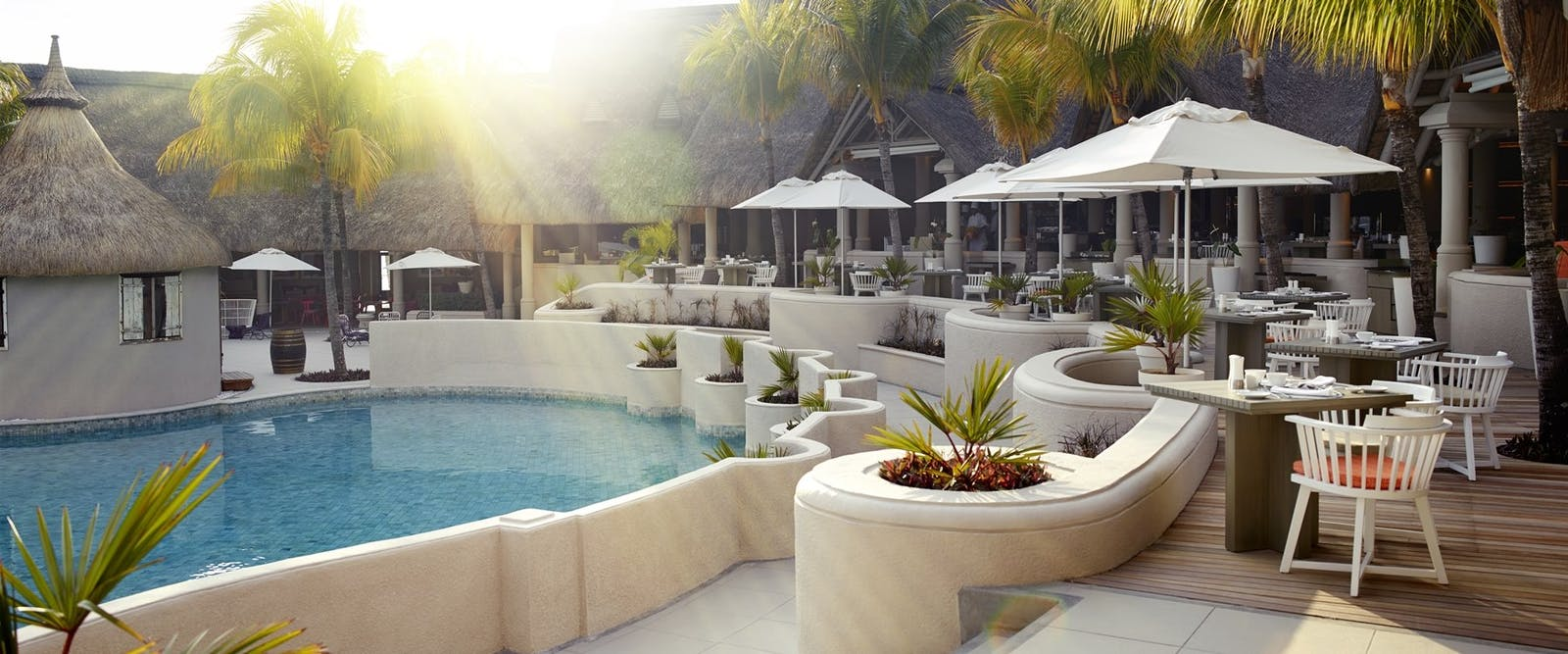 Pool Restaurant at LUX* Belle Mare, Mauritius