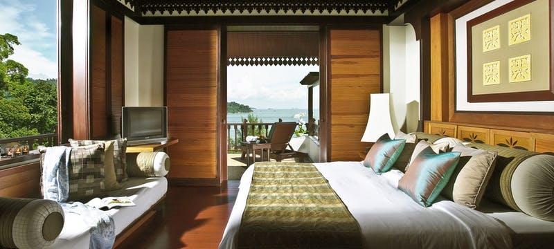 Interior of hill villa at Pangkor Laut Resort