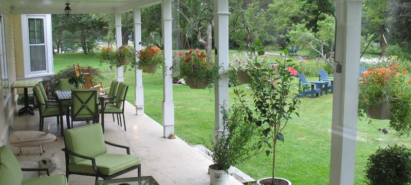 Side veranda at Hillsdale House Inn, Annapolis Royal