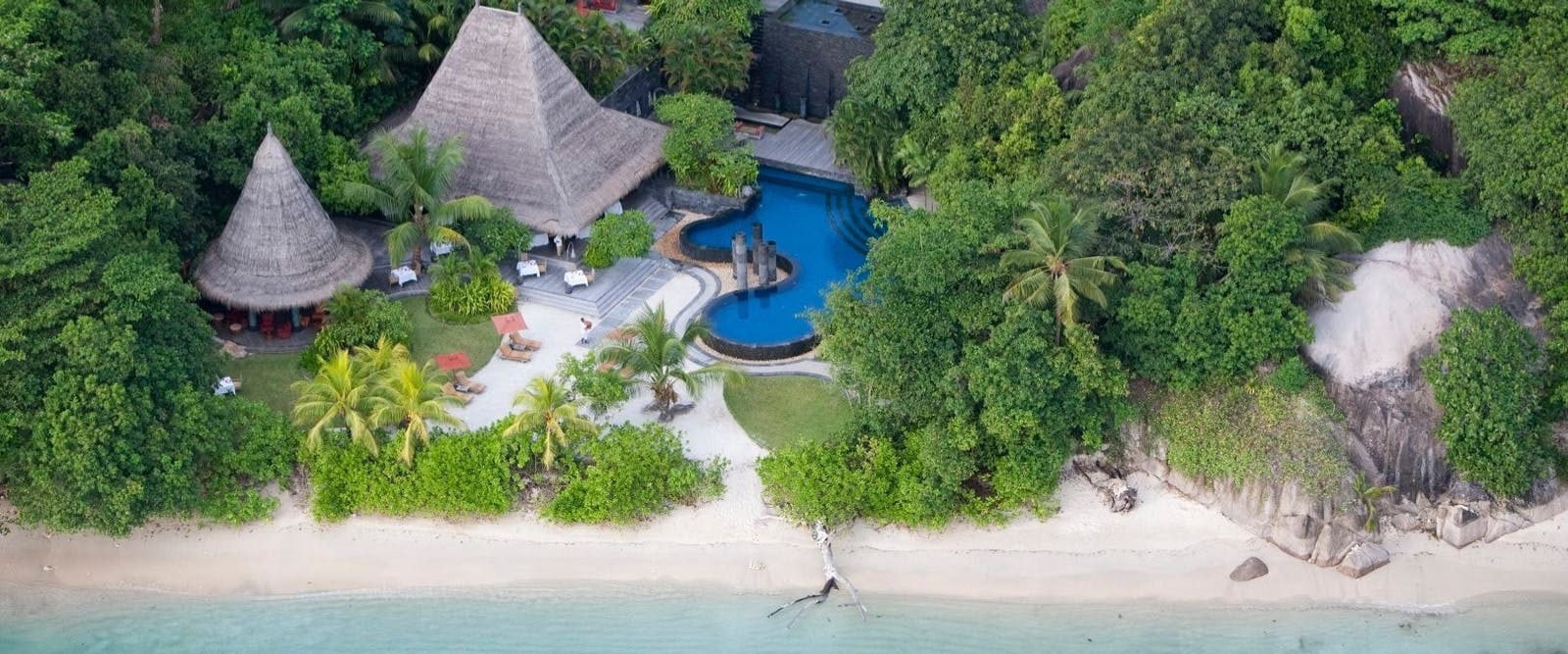 Aerial View of Maia Luxury Resort & Spa, Seychelles