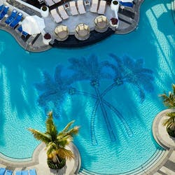 aerial view of loews miami beach pool
