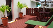 Decking area within the honeymoon suite at Bougainvillea Beach Resort, Barbados
