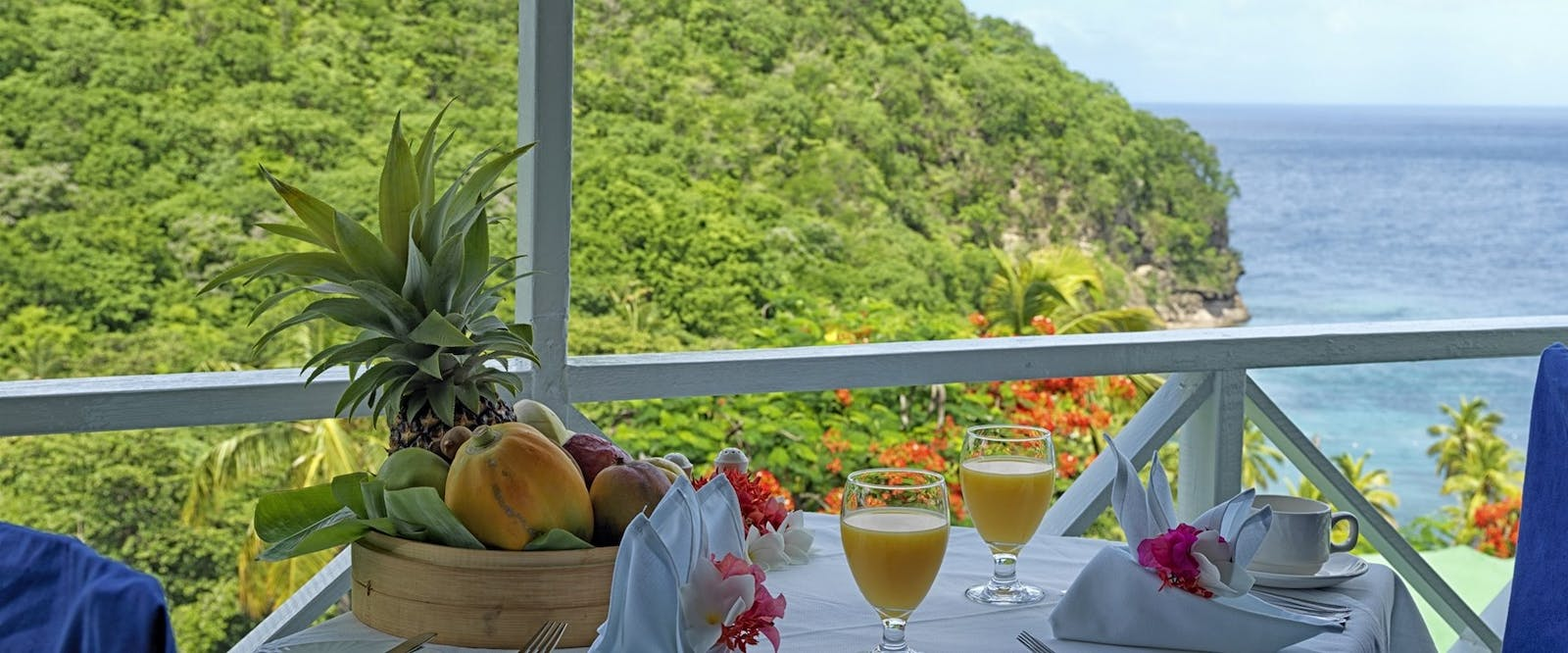 Beautiful Breakfast Setting at Anse Chastanet, St Lucia