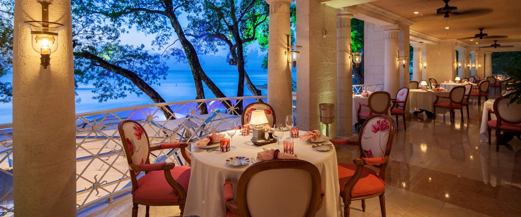 dine at open-air lacajou at sandy lane barbados