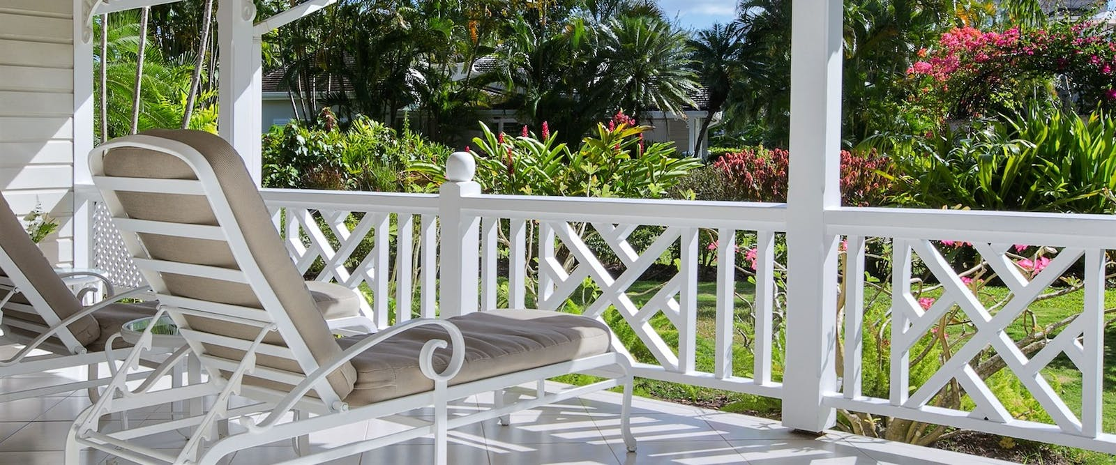 Luxury Cottage Patio at Coral Reef Club, Barbados