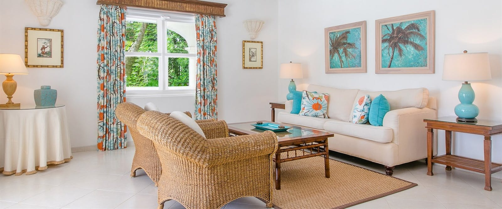 Luxury Cottage Suite Living Room at Coral Reef Club, Barbados