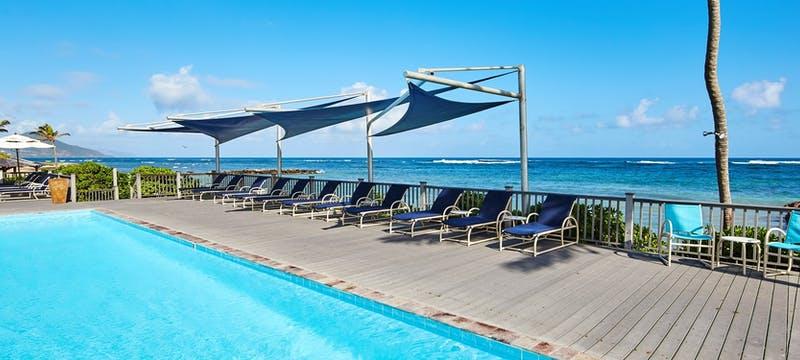 Pool area at Nisbet Plantation Beach Club, Nevis