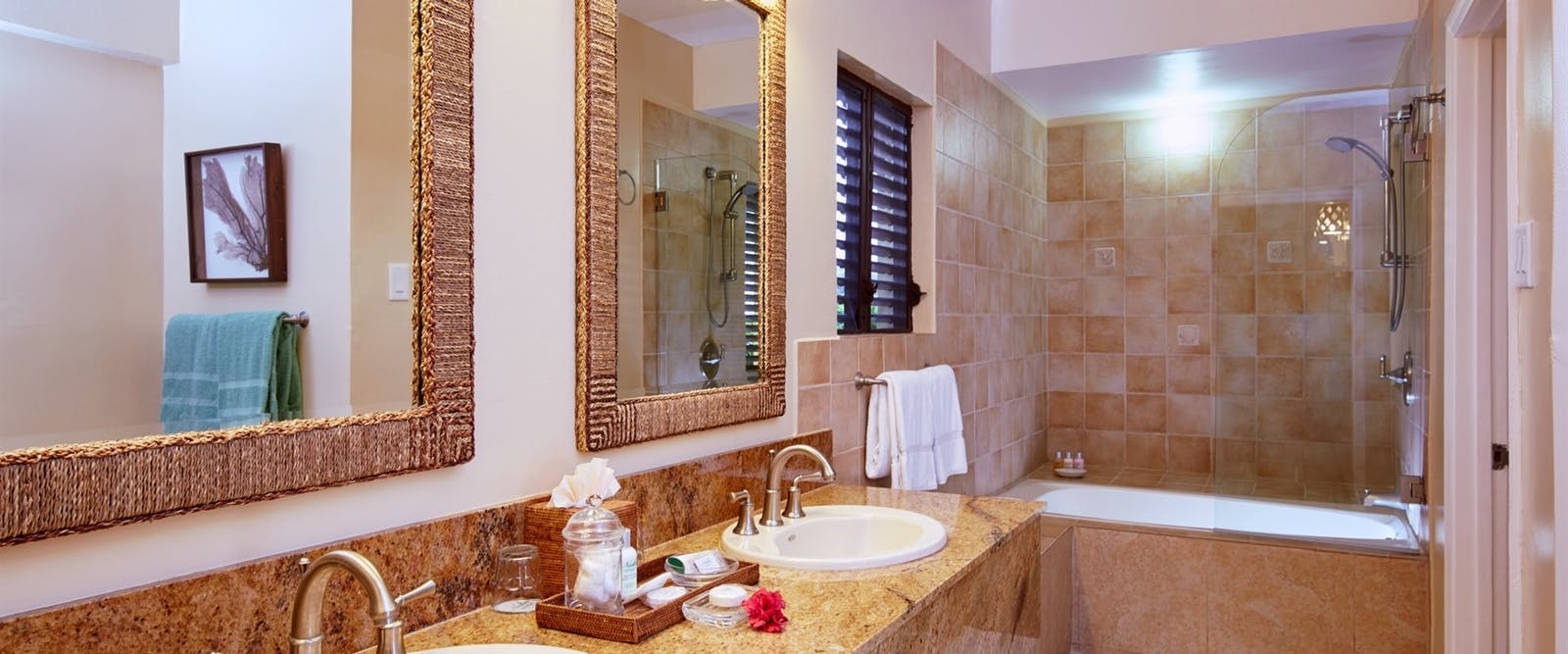 Bathroom at Nisbet Plantation Beach Club, Nevis