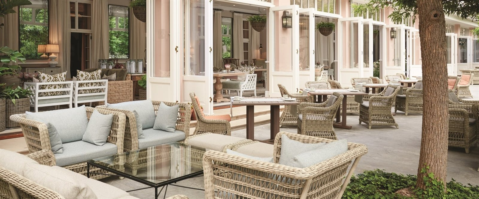 Outdoor Terrace at Belmond Mount Nelson Hotel, Cape Town