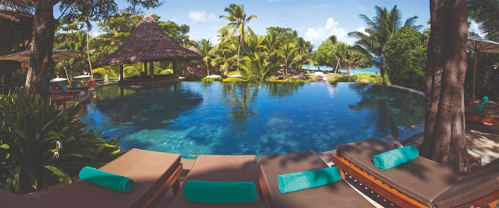 Swimming Pool at Constance Lemuria Resort, Seychelles