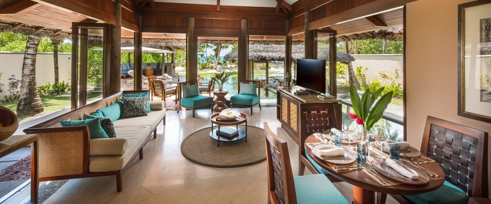 Pool Villa Lounge at Constance Lemuria Resort, Seychelles