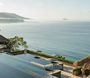 Three tiered pool at Amankila, Bali