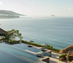 Three-tiered Pool at Amankila, Bali