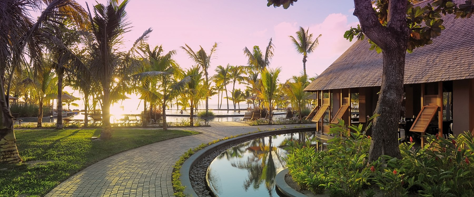 Sunset at Trou Aux Biches Beachcomber Golf Resort & Spa, Mauritius