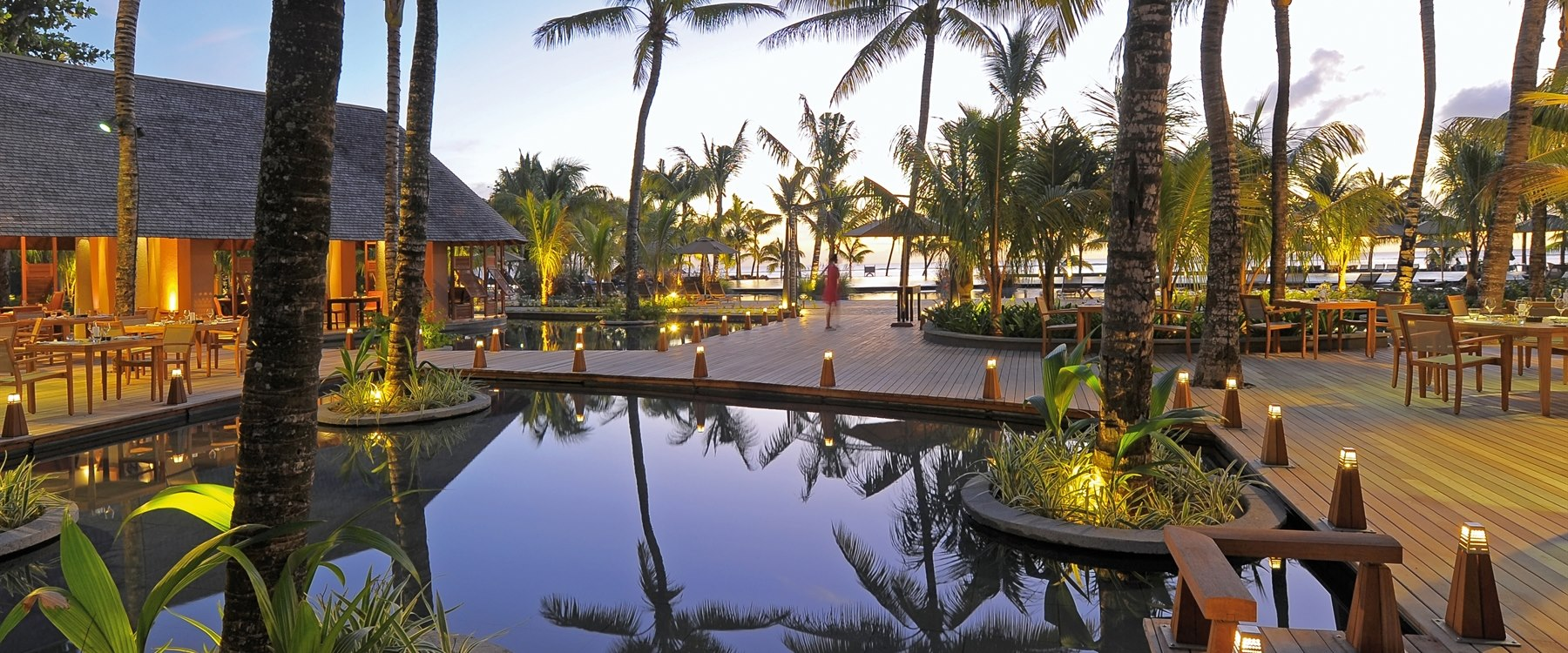 Outside dining at Trou Aux Biches Beachcomber Golf Resort & Spa, Mauritius