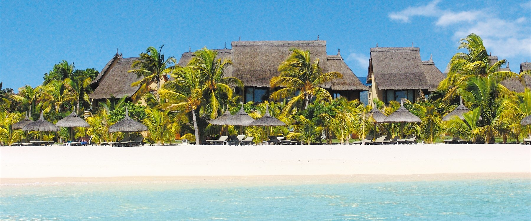The beach at Dinarobin Beachcomber Golf Resort & Spa, Mauritius