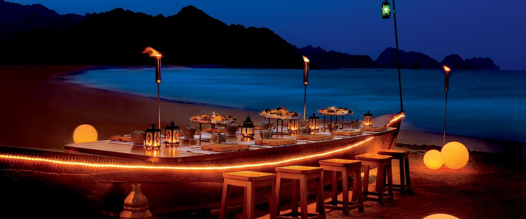 Beach Pavilion Dining at Al Bustan Palace, A Ritz-Carlton Hotel, Muscat