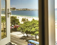 Beach View from Window at Belmond Copacabana Palace, Brazil