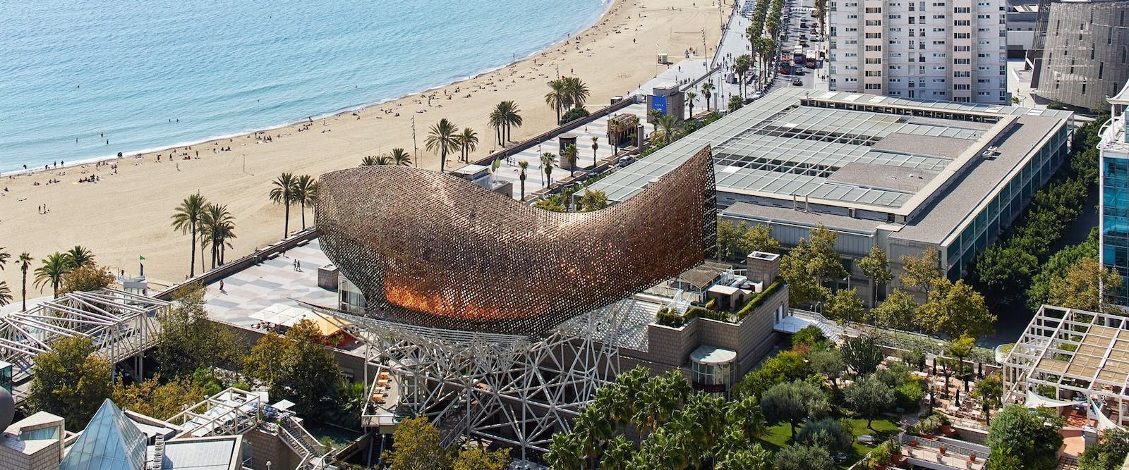 Aerial View at Hotel Arts, Barcelona, Spain