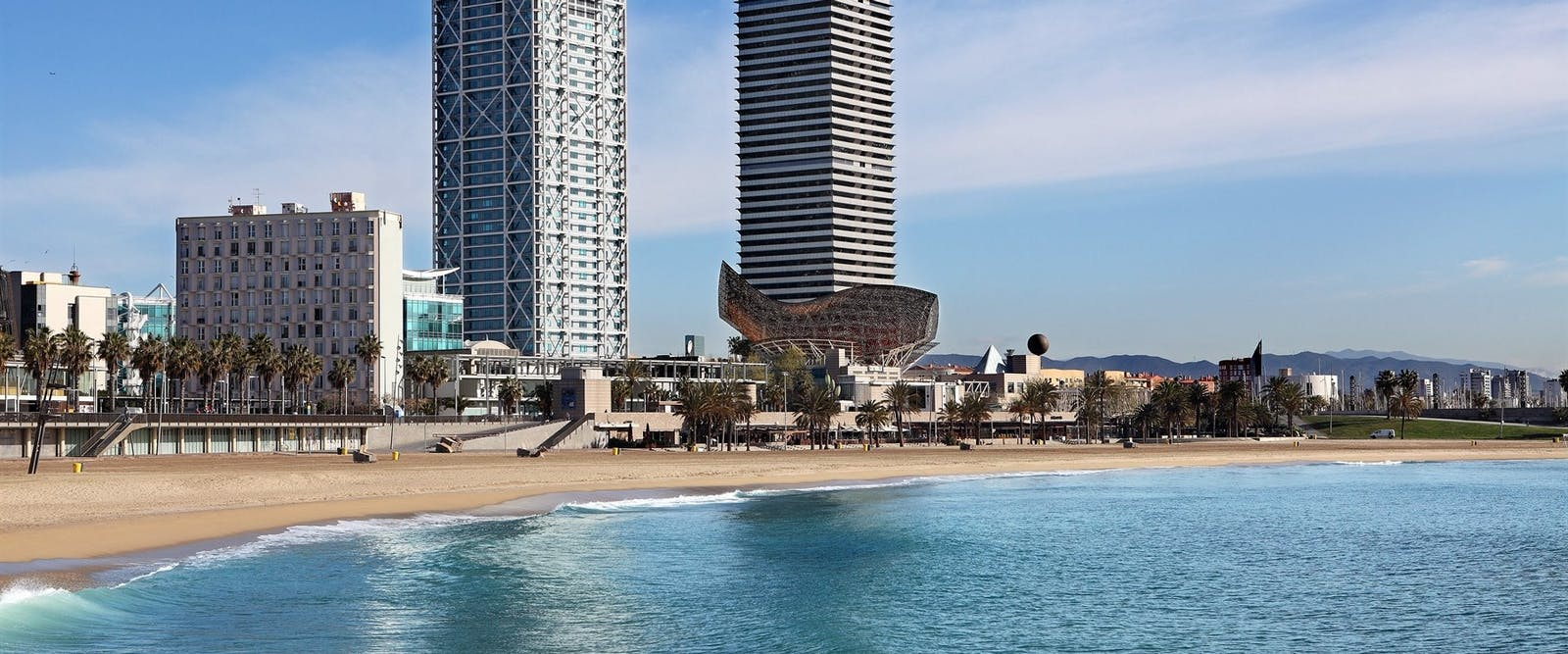 Beach View at Hotel Arts, Barcelona, Spain