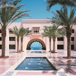 Hotel courtyard at Shangri-La's Al Husn Resort & Spa