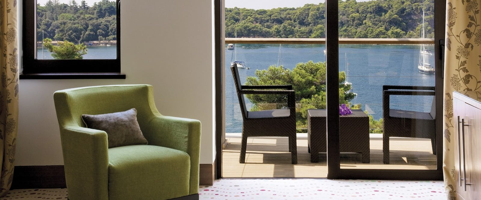 Bedroom with Beautiful View at Hotel Monte Mulini, Croatia