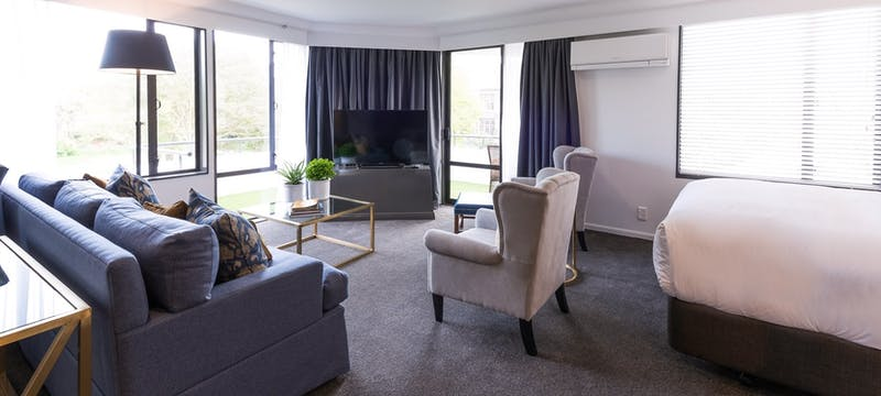 Family Suite Lounge at Hotel Montreal, Christchurch