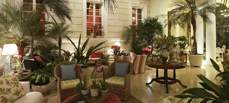 Internal patio at Casa Gangotena