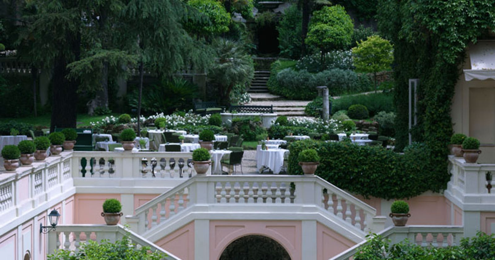 Gardens at Hotel De Russie, Rome, Italy