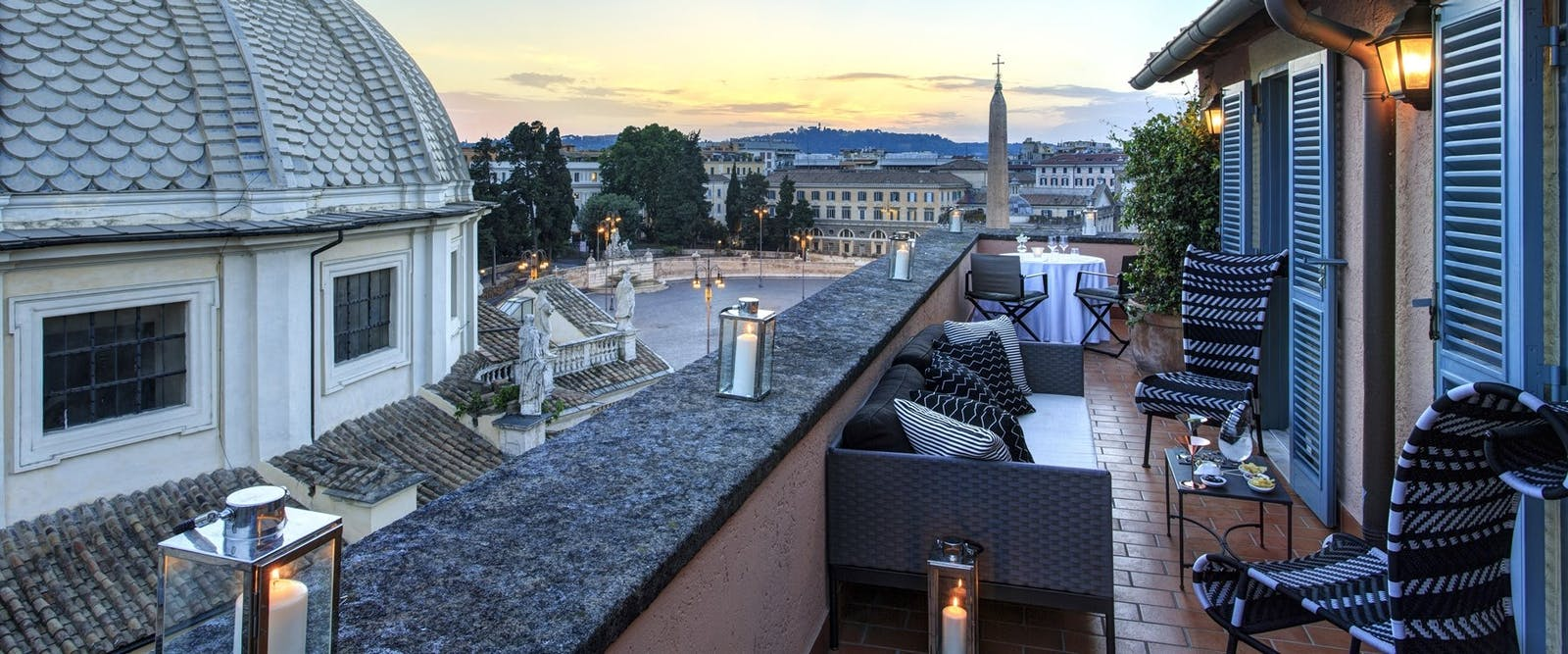 Private Suite Terrace at Hotel De Russie, Rome, Italy