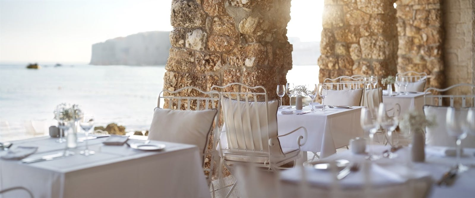 Beach Restaurant at Hotel Excelsior, Dubrovnik, Croatia