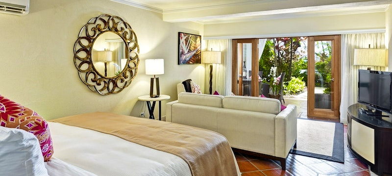 Garden view bedroom at The House by Elegant Hotels, Barbados