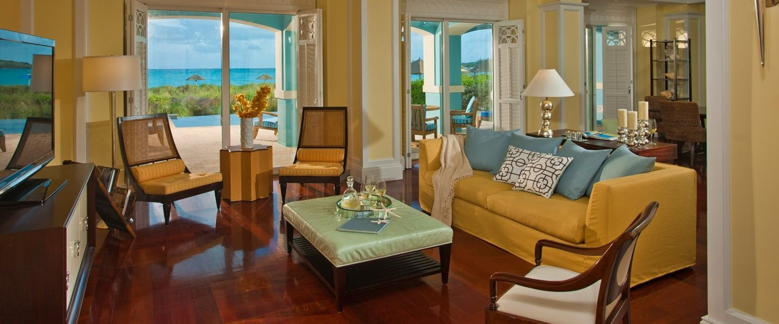 Royal Estate Beachfront Villa Suite with Pool at Sandals Emerald Bay Golf, Tennis & Spa Resort, Bahamas, Caribbean