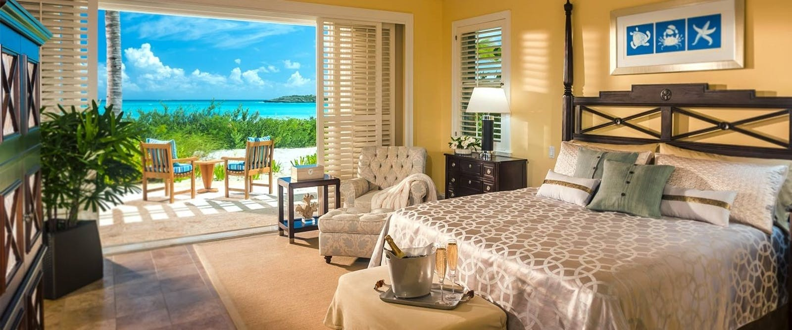 Prime Minister Honeymoon Beachfront Villa Suite at Sandals Emerald Bay Golf, Tennis & Spa Resort, Bahamas, Caribbean