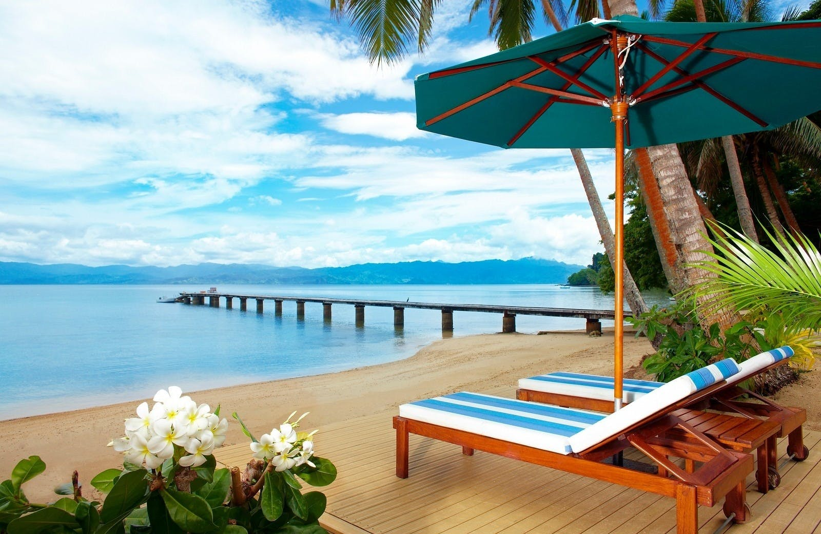 Beach Deck at Jean-Michel Cousteau Resort, Fiji
