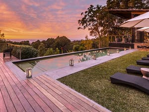 Swimming pool with view at Spicers Sangoma Retreat