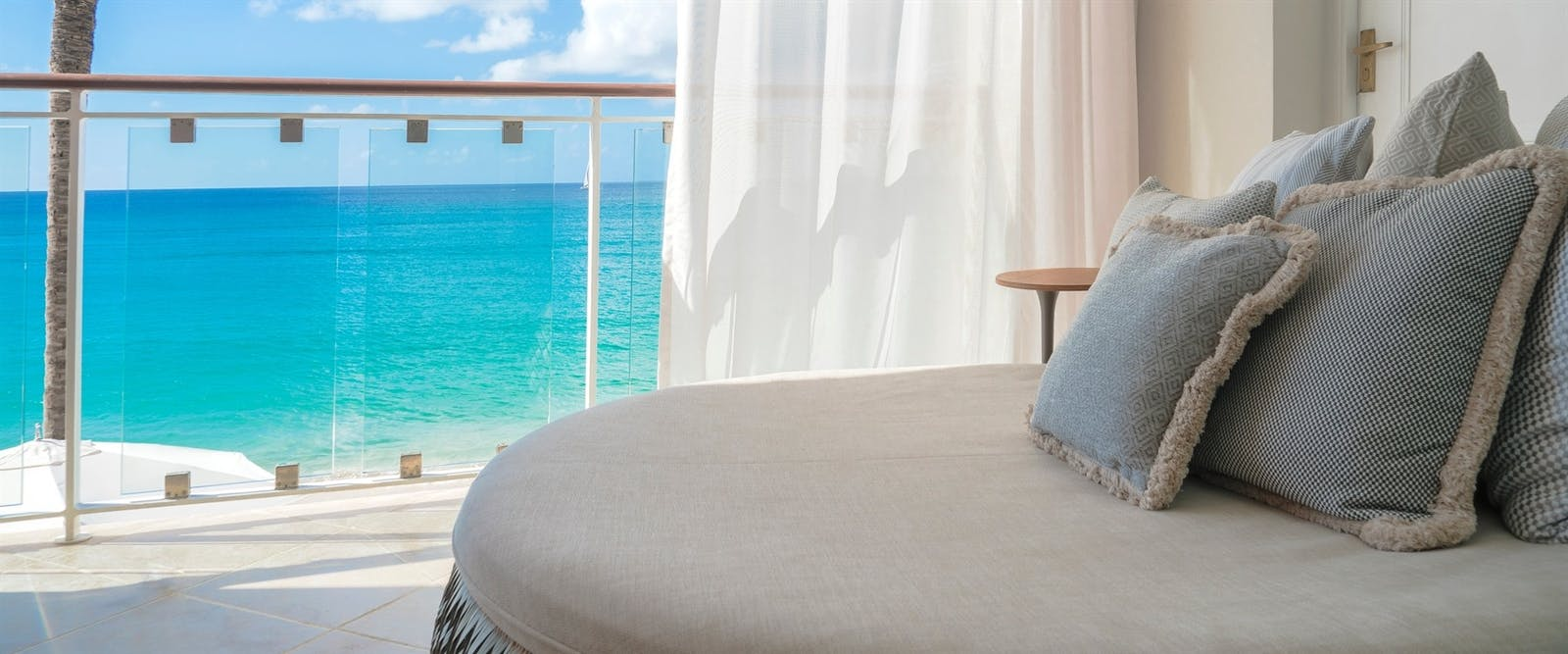 Signature and Luxury Oceanfront Sunbed at Fairmont Royal Pavilion, Barbados
