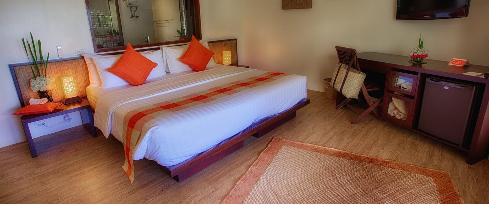Bedroom at Amun Ini Beach Resort & Spa, Philippines