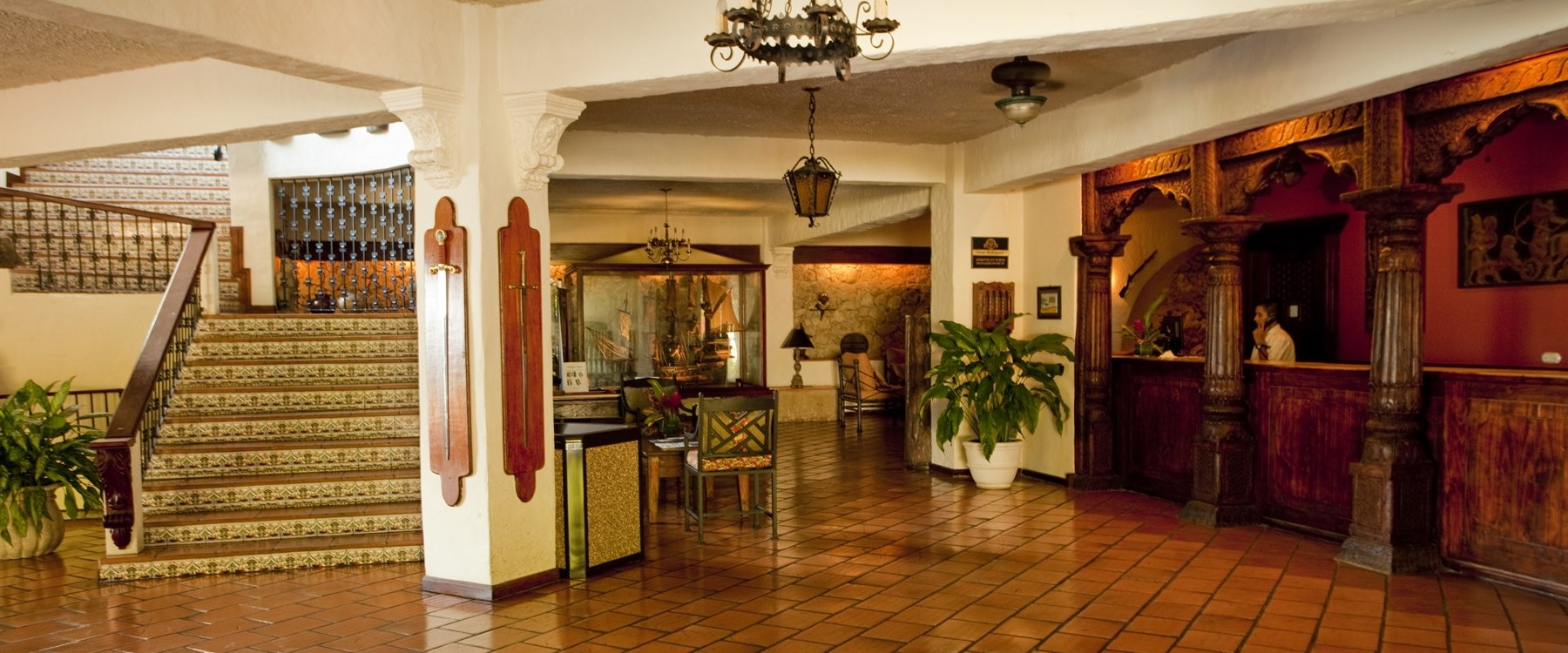 Lobby area at Parador Resort & Spa