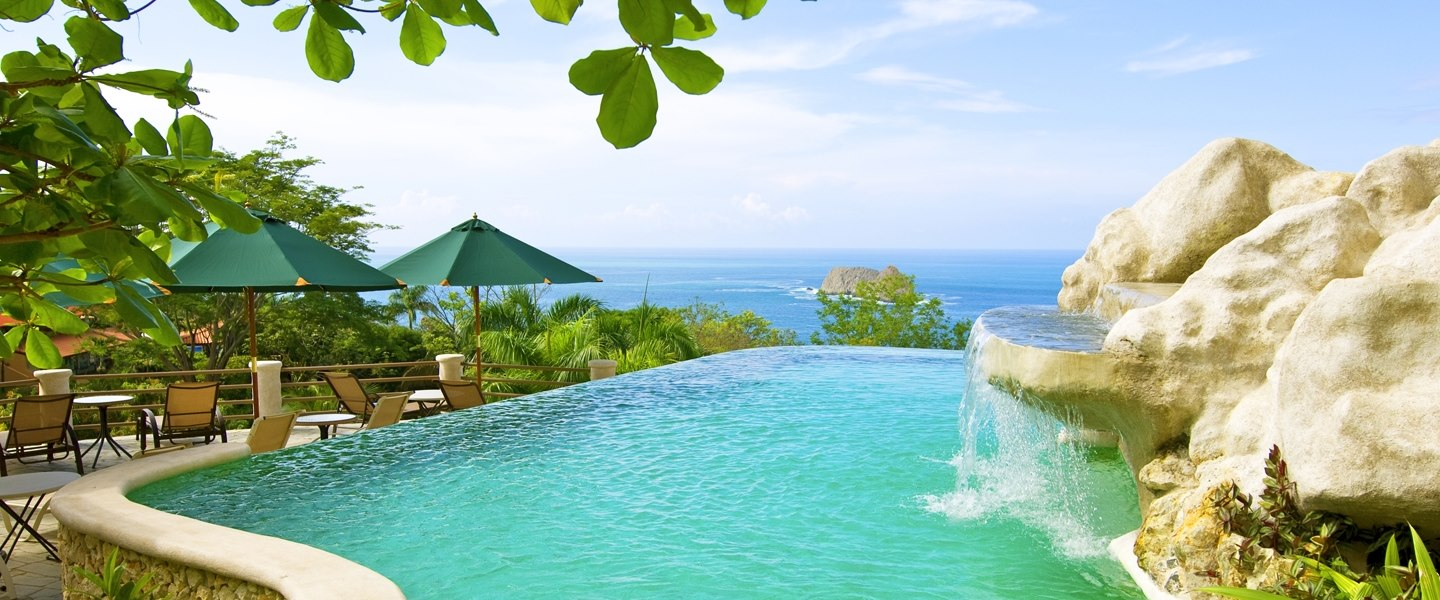Infinity pool at Parador Resort & Spa
