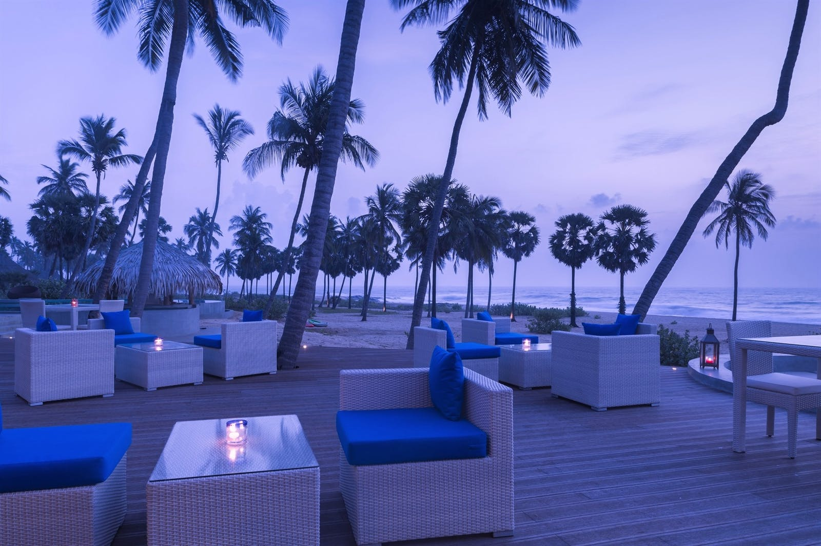 Evening Outdoor Dining, Jetwing Surf, East Coast Beaches, Sri Lanka