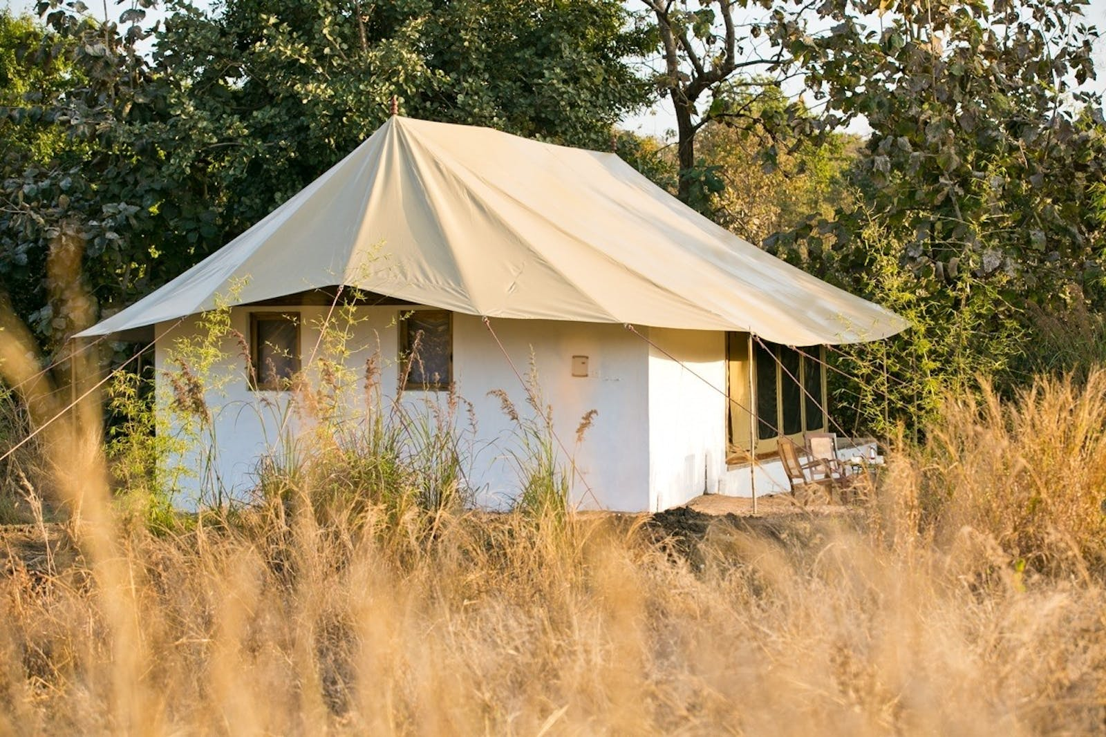 jamtara wilderness camp tent exterior