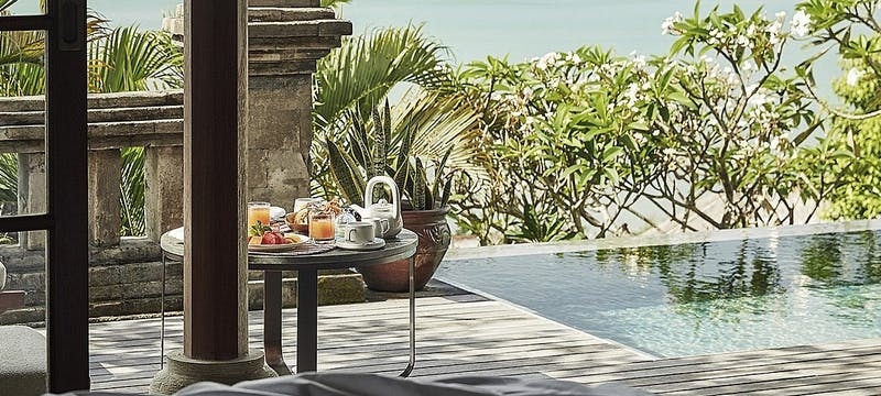 In Villa pool breakfast at Four Seasons Resort Bali at Jimbaran Bay
