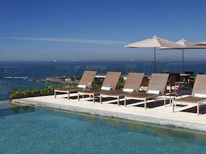 Infinity edge pool at Miramar Hotel by Windsor, Brazil