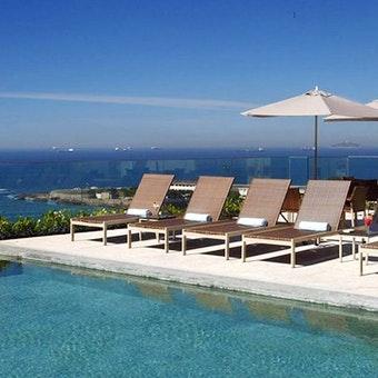 Infinity edge pool at Miramar Hotel by Windsor, Brazil